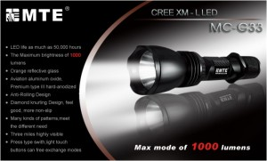 MTE MC-G33 Tactical Flashlight XM-L2 1200 Lumen max. 3 Modes MSITC Edition – Bild 1