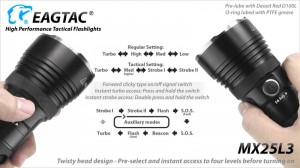 EagleTac MX25L3  MT-G2 P0-LED 2750 LED-Lumen max. Base – Bild 5