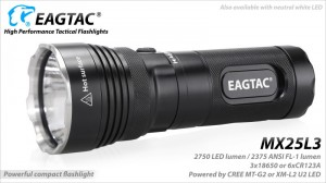 EagleTac MX25L3 MT-G2 P0-LED 2750 LED-Lumen max. Kit – Bild 1
