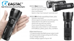 EagleTac MX25L3 MT-G2 P0-LED 2750 LED-Lumen max. Kit – Bild 5