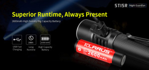KLARUS ST15R Night Guardian CREE XP-L HD V6 1200 ANSI-Lumen max. – Bild 7